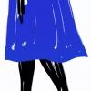 Parisienne Bleu Klein