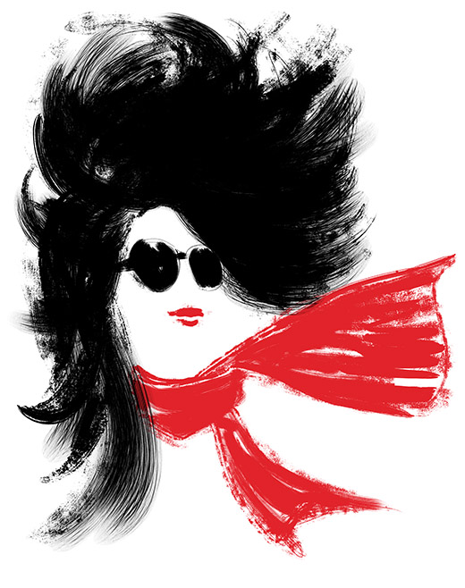 parisienne-foulard-rouge-wild-is-the-wind