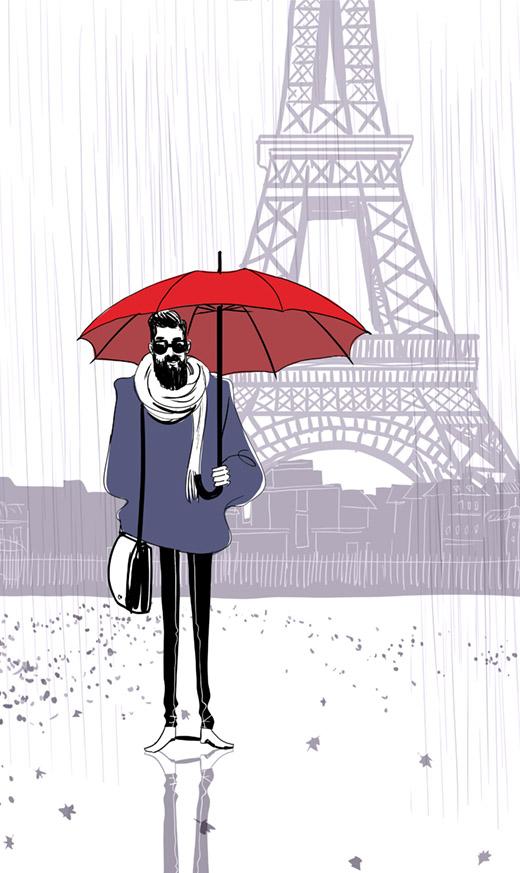illustration-hipster-pluie-paris