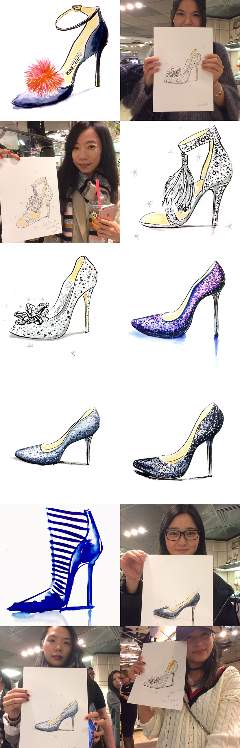 jimmy-choo-live-illustration-marie-claire-shoes-first-galeries-lafayette
