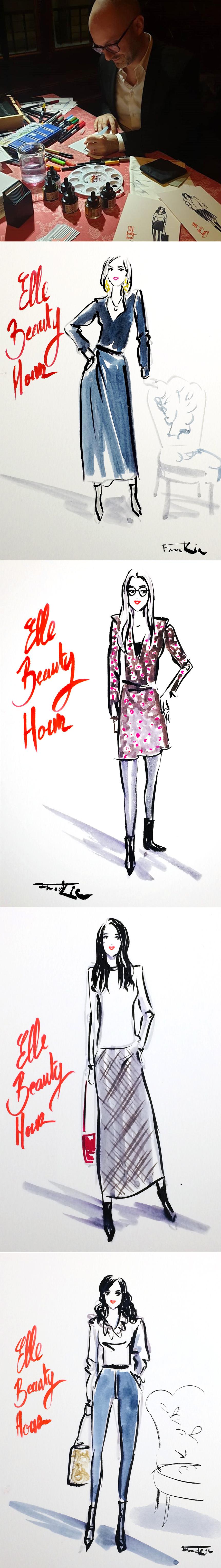 elle-beauty-hour-live-illustration