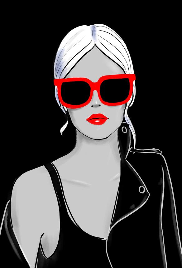 illustration-mode-fasion-sunglasses-lunettes-soleil-printemps